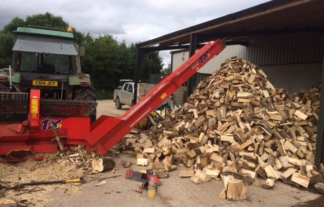 Firewood processing in Devon