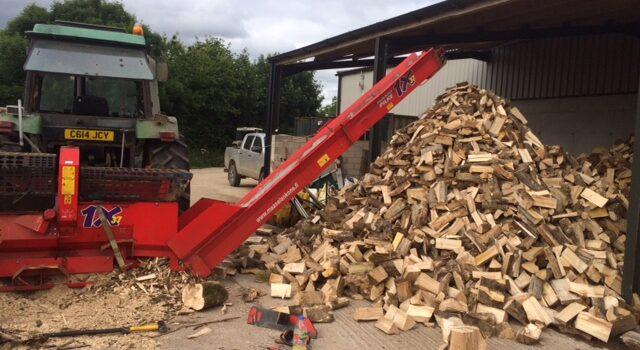 Firewood processing in Devon